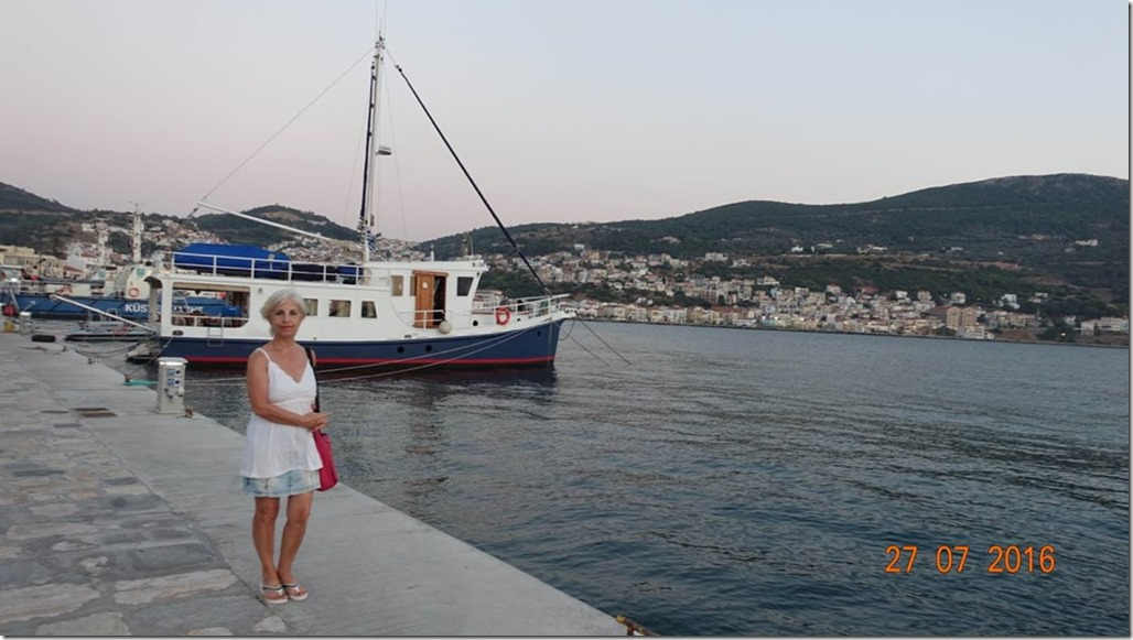 George Buehler Trawler LeeZe in Samos with Zehra