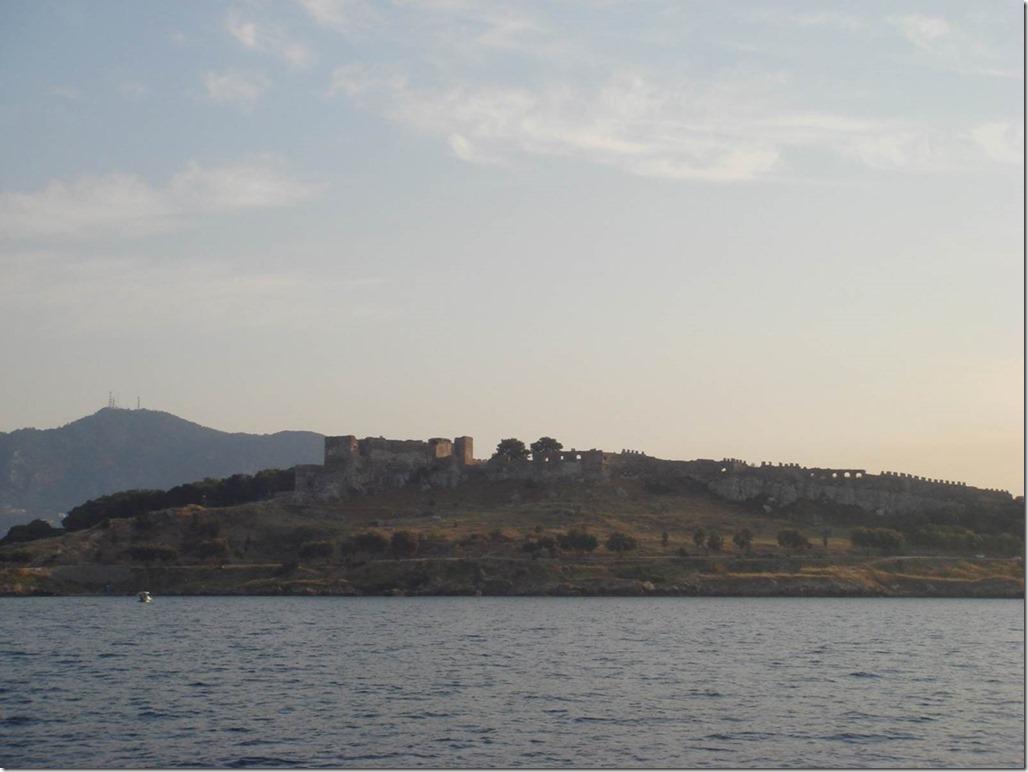 George Buehler Trawler in Mytillini - Castle view