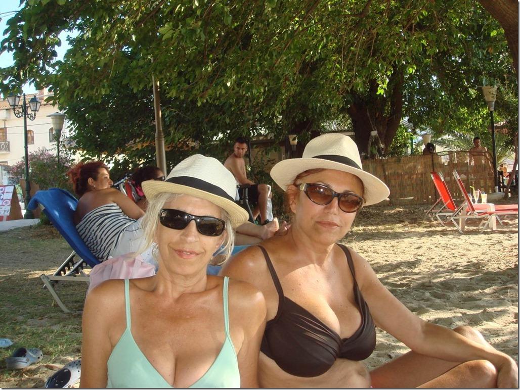 Beach club visit