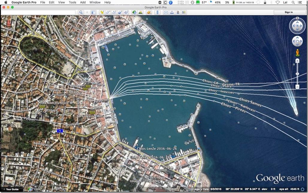 George Buehler Trawler in Izmir > Chios