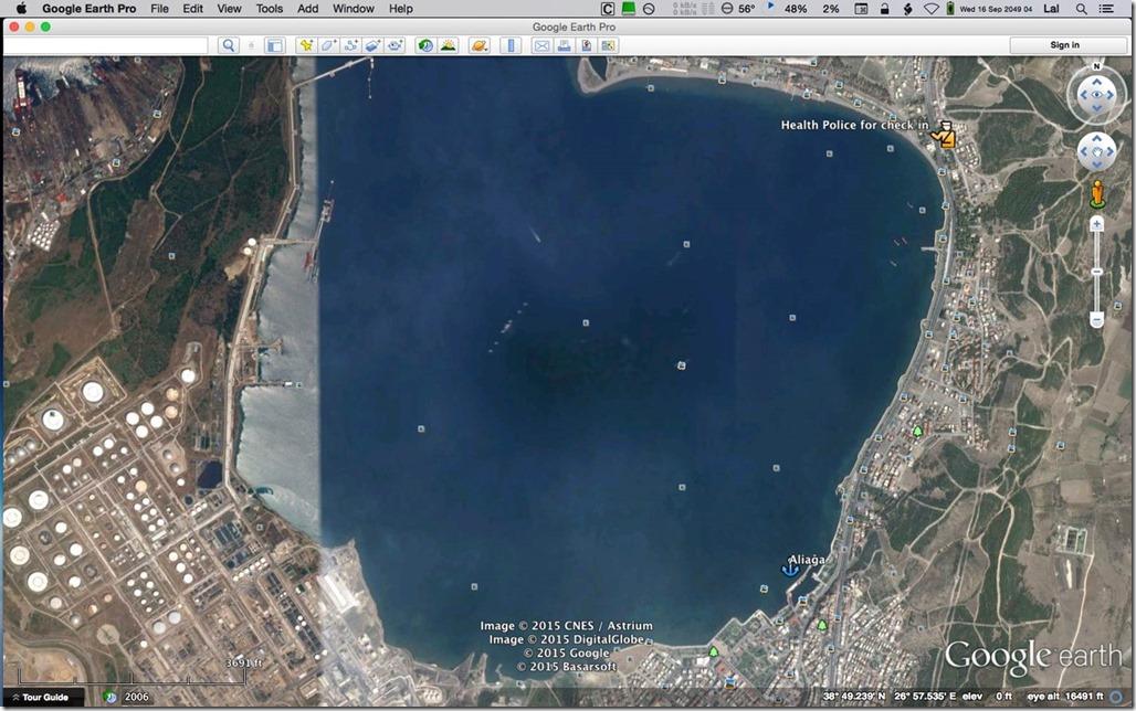 Diesel Duck Trawler LeeZe in Çandarli > Anchorages in Aliağa
