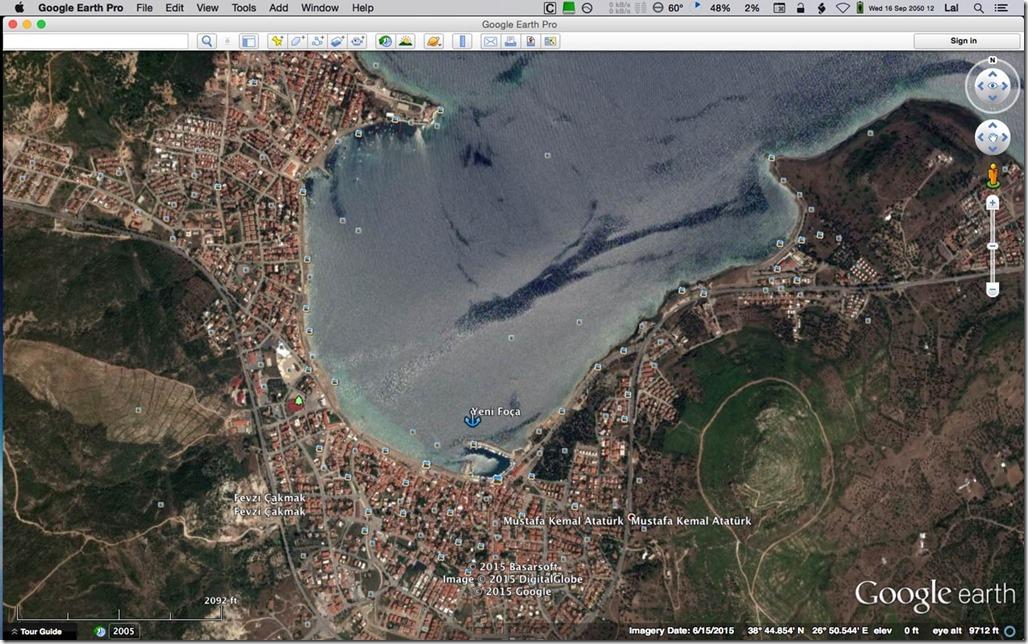 Diesel Duck Trawler LeeZe in Çandarli > Anchorages in Yeni Foça