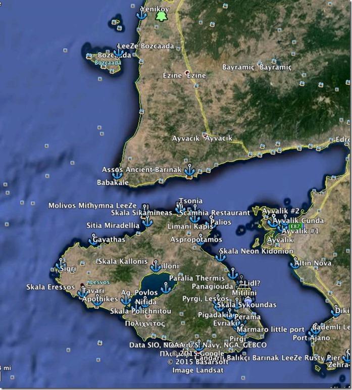 George Buehler Trawler in Samothraki > Approaching Babakale