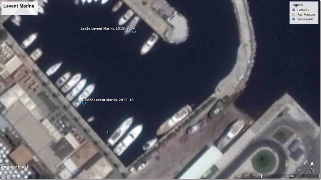 Diesel Duck Trawler LeeZe in Levent Marina