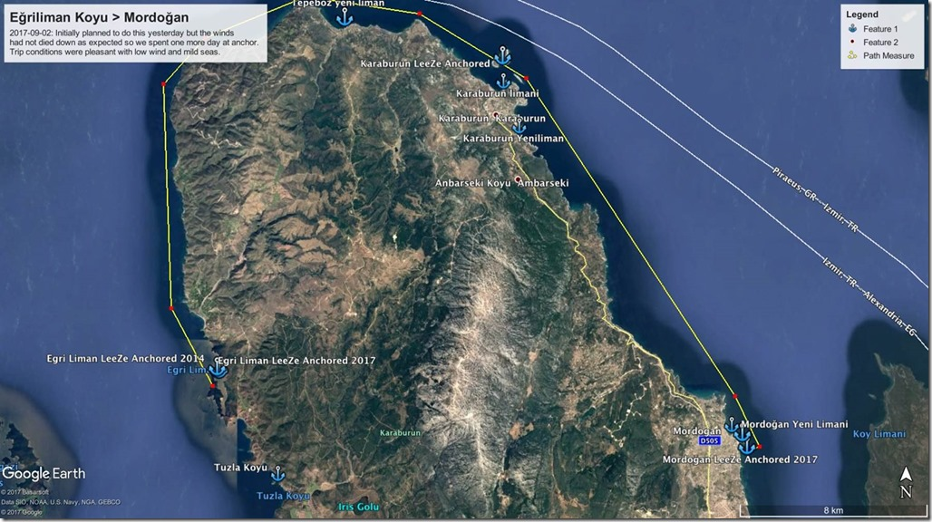 Diesel Duck Trawler LeeZe in Egriliman Koyu > Mordoğan