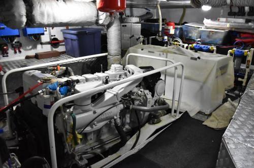 LeeZe Diesel Duck Trawler Engine Room looking aft