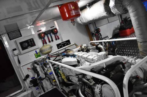 LeeZe Diesel Duck Trawler Engine Room looking forward