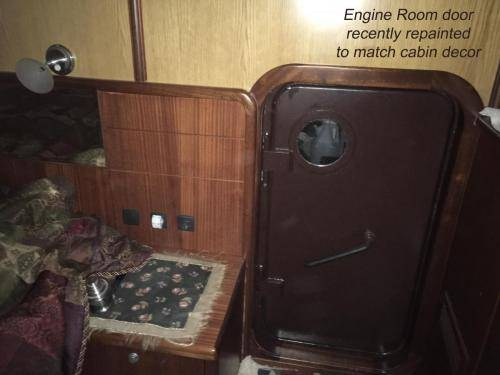 LeeZe Diesel Duck Trawler Engine Room Door