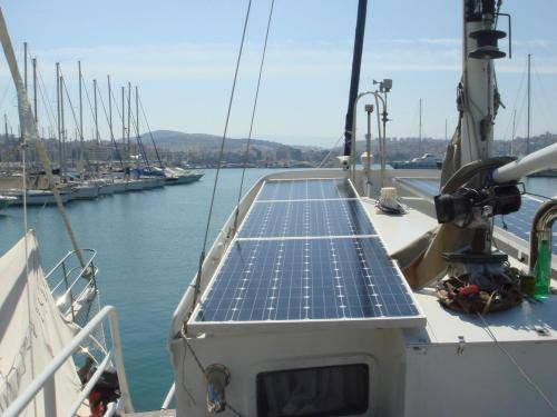 LeeZe Diesel Duck Trawler Port Solar Panels
