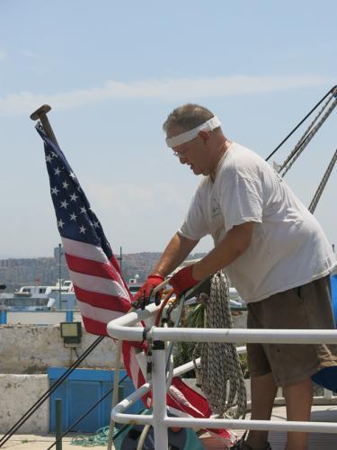 USA Flag at the ready